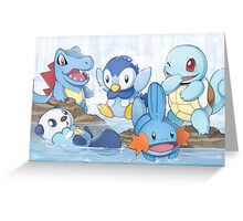 Water Type Greeting Card