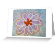 Lovely Abstract Flower by Holly Cannell Greeting Card