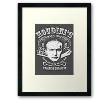 Houdini's Magic Shop (White) Framed Print