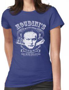 Houdini's Magic Shop (White) Womens Fitted T-Shirt