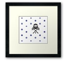 Wish and Work Pattern Framed Print