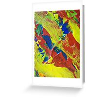 Primary Abstract by Holly Cannell Greeting Card