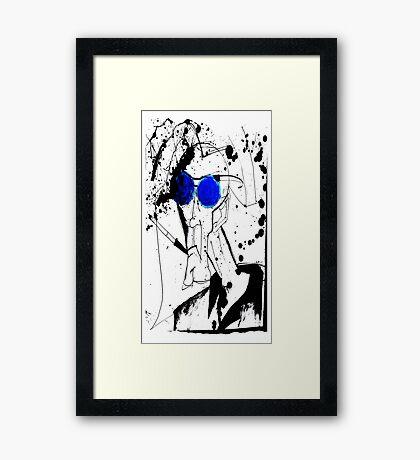 Hunter in Blues Framed Print