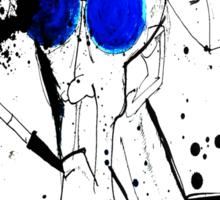 Hunter in Blues Sticker