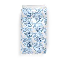 Blue Eyes White Dragon - Gradient Blue Duvet Cover