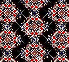 Red, Blue, Yellow, and Black Moroxo Mosaic by NymphaeaNerd