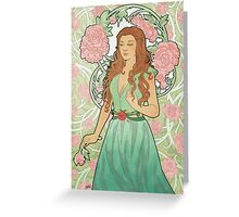 Rose Nouveau Greeting Card