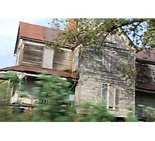 haunted house in motion Photographic Print