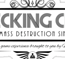 Wrecking Crew - Art Deco Black Sticker