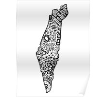 Hipster Israel Zentangle Poster