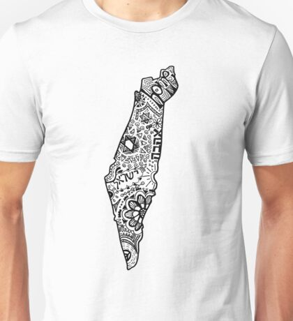 Hipster Israel Zentangle Unisex T-Shirt