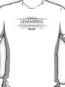 Lemmings - Art Deco Black T-Shirt