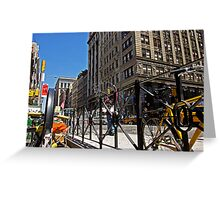 Bubble Man on Broadway Avenue., New York Greeting Card
