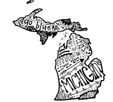 Hipster State of Michigan Outline by alexavec