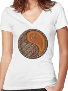 Capricorn & Tiger Yang Wood Women's Fitted V-Neck T-Shirt