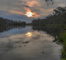 Dusk on the Goulburn by Larry Lingard-Davis