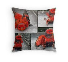 Bathing in action!!! Throw Pillow