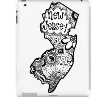 Hipster New Jersey Outline iPad Case/Skin
