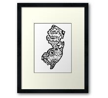 Hipster New Jersey Outline Framed Print