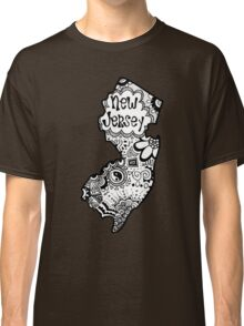 Hipster New Jersey Outline Classic T-Shirt