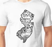 Hipster New Jersey Outline Unisex T-Shirt