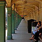 Waiting for a Train by Zal Lazkowicz