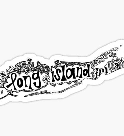 Hipster Long Island Outline Sticker