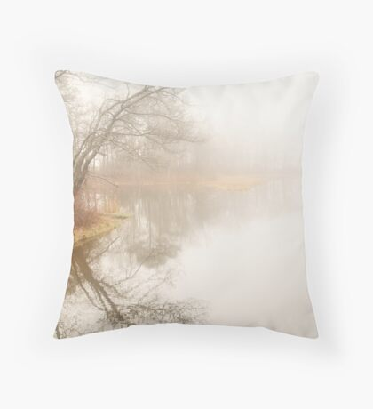 Fade to White . . .  Softly Throw Pillow