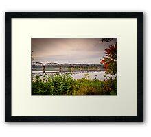 Fredericton Railway Bridge Framed Print