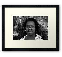 A LOOK Framed Print