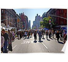 Columbus Day on Amsterdam Avenue, New York Poster
