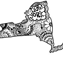 Hipster New York Outline by alexavec