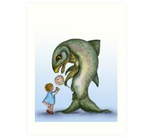 Yes, Virginia, There is a Frankenfish  Art Print