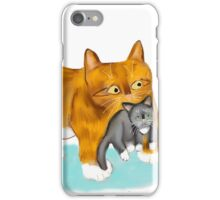 Kitty gets a ride from Momma iPhone Case/Skin