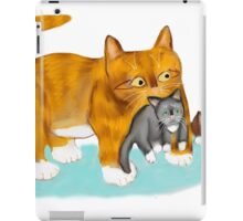 Kitty gets a ride from Momma iPad Case/Skin