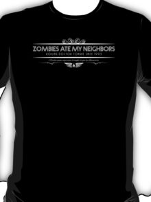 Zombies Ate My Neighbors - Art Deco White T-Shirt