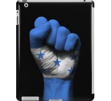 Flag of Honduras on a Raised Clenched Fist  iPad Case/Skin