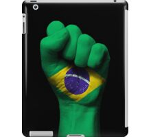 Flag of Brazil on a Raised Clenched Fist  iPad Case/Skin