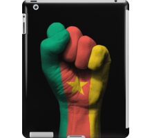 Flag of Cameroon on a Raised Clenched Fist  iPad Case/Skin