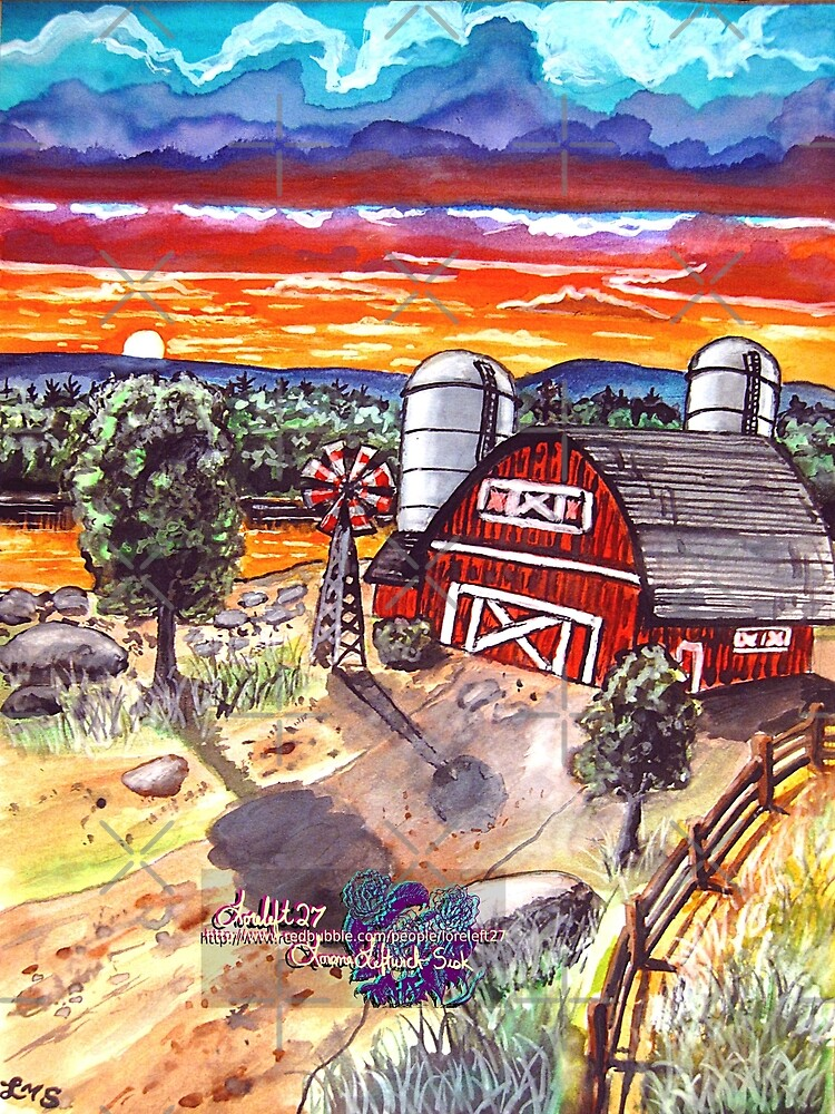 the red barn by LoreLeft27