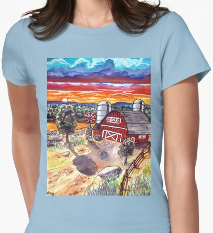 the red barn Womens Fitted T-Shirt