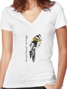 Le Tour: Bernard Hinault Women's Fitted V-Neck T-Shirt