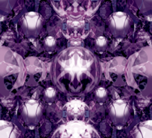 Psychedelic Pattern Purple Spheres and Spikes Sticker