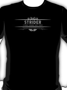 Strider - Art Deco White T-Shirt