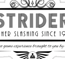 Strider - Art Deco Black Sticker