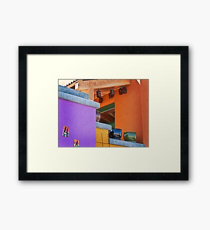 Multi-Colored House Framed Print