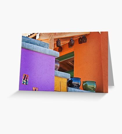 Multi-Colored House Greeting Card