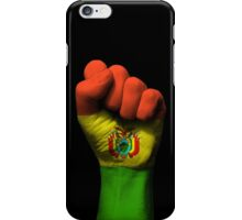 Flag of Bolivia on a Raised Clenched Fist  iPhone Case/Skin
