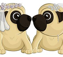 Bride Pugs by AnMGoug