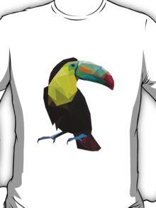 Polygonal Toucan Bird T-Shirt